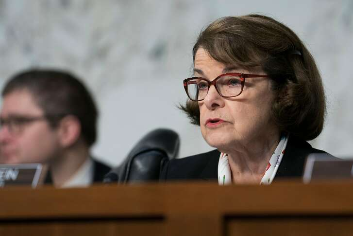 Sen. Dianne Feinstein (D-Calif.), the ranking Democrat, speaks during a Senate Judiciary Committee hearing on the school shooting in Parkland, Fla., and school safety on Capitol Hill in Washington, March 14, 2018. (Erin Schaff/The New York Times)