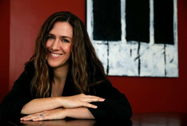 """Vocalist Kyra Gordon is seen at her home in Berkeley, Calif. on Friday, March 9, 2018. Gordon is creating and performing, """"Loving Janis,"""" an homage to the music of Janis Joplin and Janis Ian at Ashkenaz in Berkeley on March 23."""