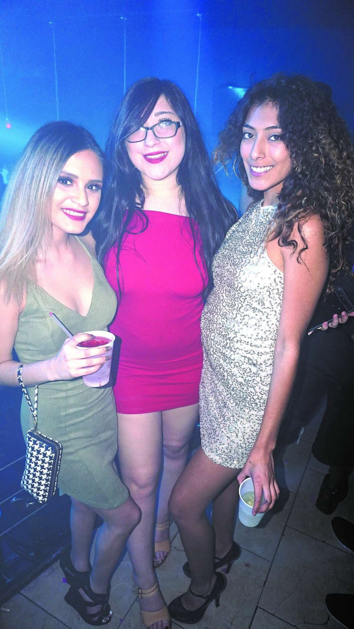 Abigail Chapa, Brittany Nicole Medellin and Elsa Guerra at Club Vibe Friday, March 16, 2018