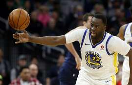 Golden State Warriors' Draymond Green plays against the Minnesota Timberwolves in an NBA basketball game Sunday, March 11, 2018, in Minneapolis. (AP Photo/Jim Mone)