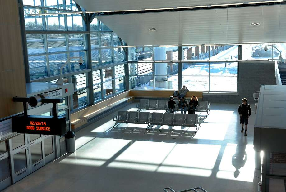 A view of the interior of the new West Haven rail station in West Haven, Conn. on Friday February 28, 2014. Photo: File Photo / Christian Abraham / Connecticut Post
