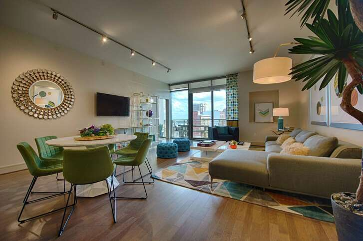 A model apartment in the 463-unit Market Square Tower.