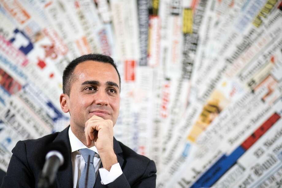 Luigi Di Maio, leader of Italy's anti-establishment Five Star Movement, pauses at a news conference in Rome, Italy, on Tuesday, March 13, 2018. Photo: Alessia Pierdomenico, Bloomberg
