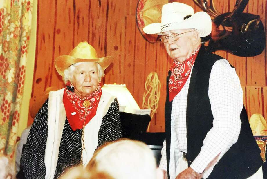 Charlotte Brown and David Brown take part in a past show at the New Canaan Inn. Photo: Contributed Photo / New Canaan News
