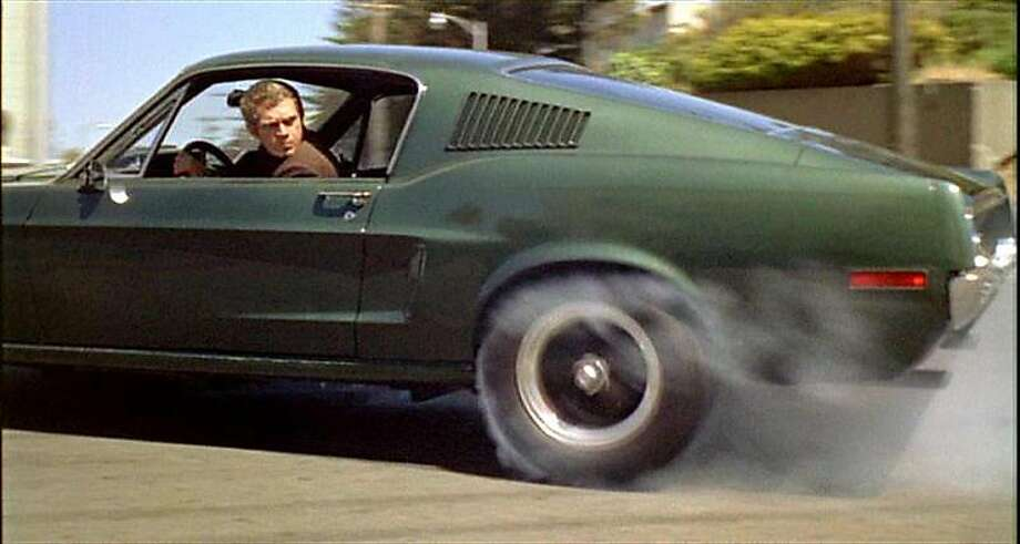 "Steve McQueen revs up in San Fran cis co for ""Bullitt"" in 1968. Photo: Courtesy Warner Bros. Pictures, File Photo"
