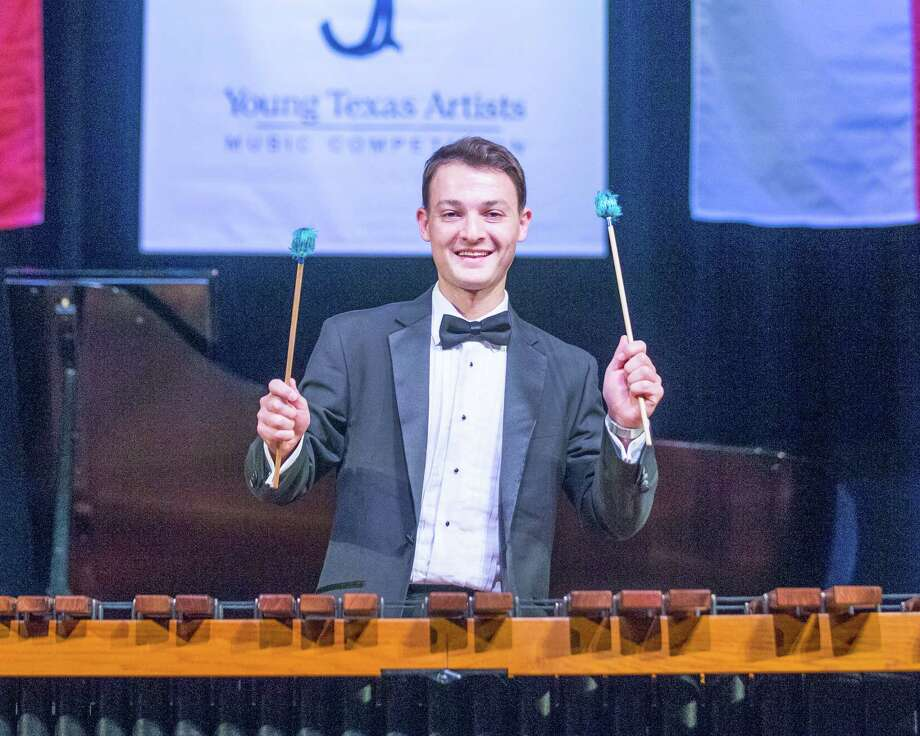 Justin Douté on the marimba was the Grand Prize winner of the 2018 Young Texas Artists Music Competition. The Finalists Concert took place March 10 at the Crighton Theatre.