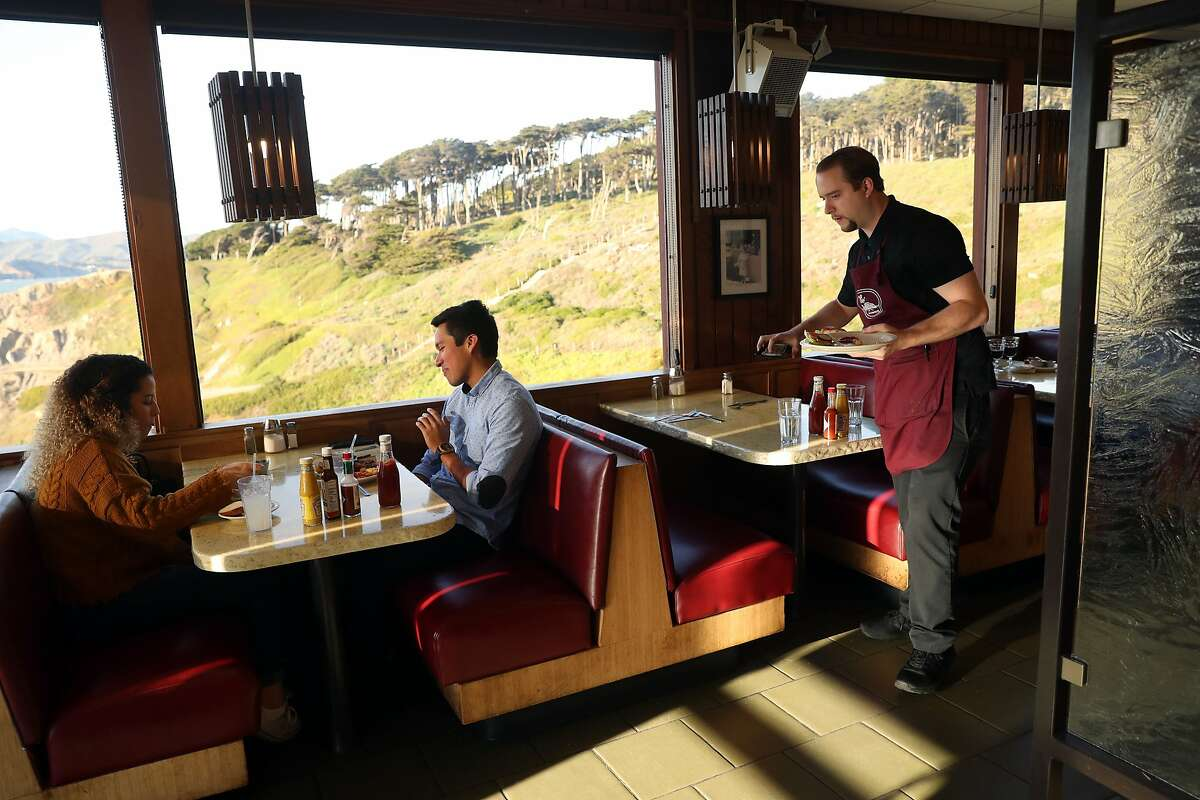 Tom Hickox works at Louis' Restaurant at Point Lobos in San Francisco , Calif., on Tuesday, February 27, 2018.