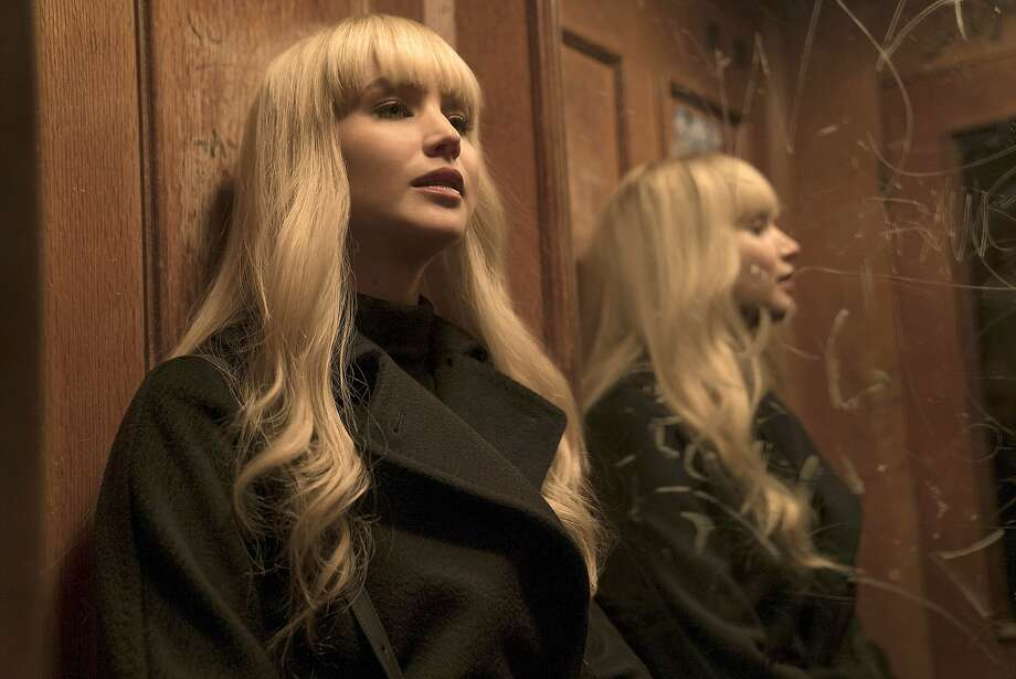 """The camera captures the es sence of Jennifer Lawrence's character in """"Red Sparrow."""" Photo: Murray Close / Twentieth Century Fox"""