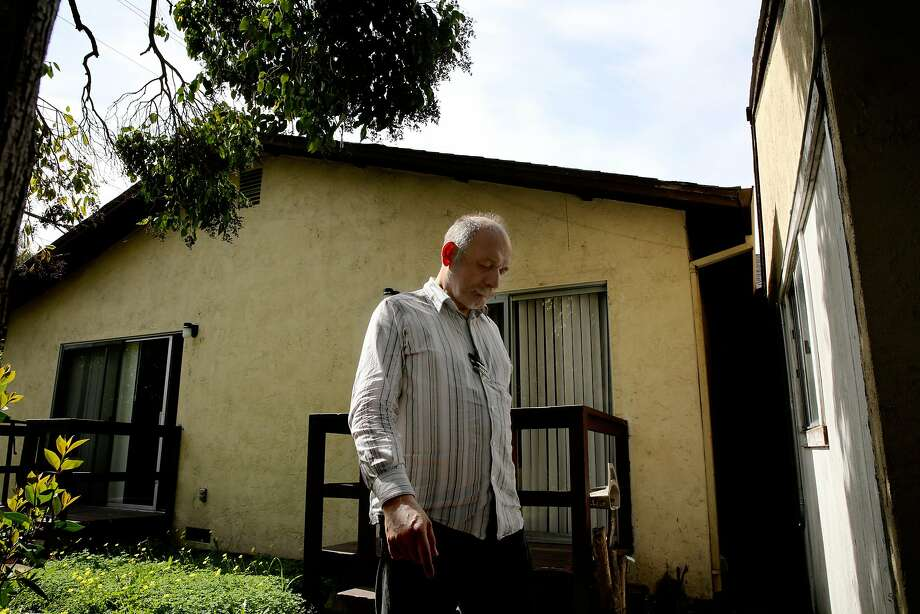 After taking a moment in the backyard, Hector Vasquez, 59, walks back into the Hope House, a 12-bed board and care program in Santa Rosa. Vasquez is a patient there. Photo: Santiago Mejia, The Chronicle