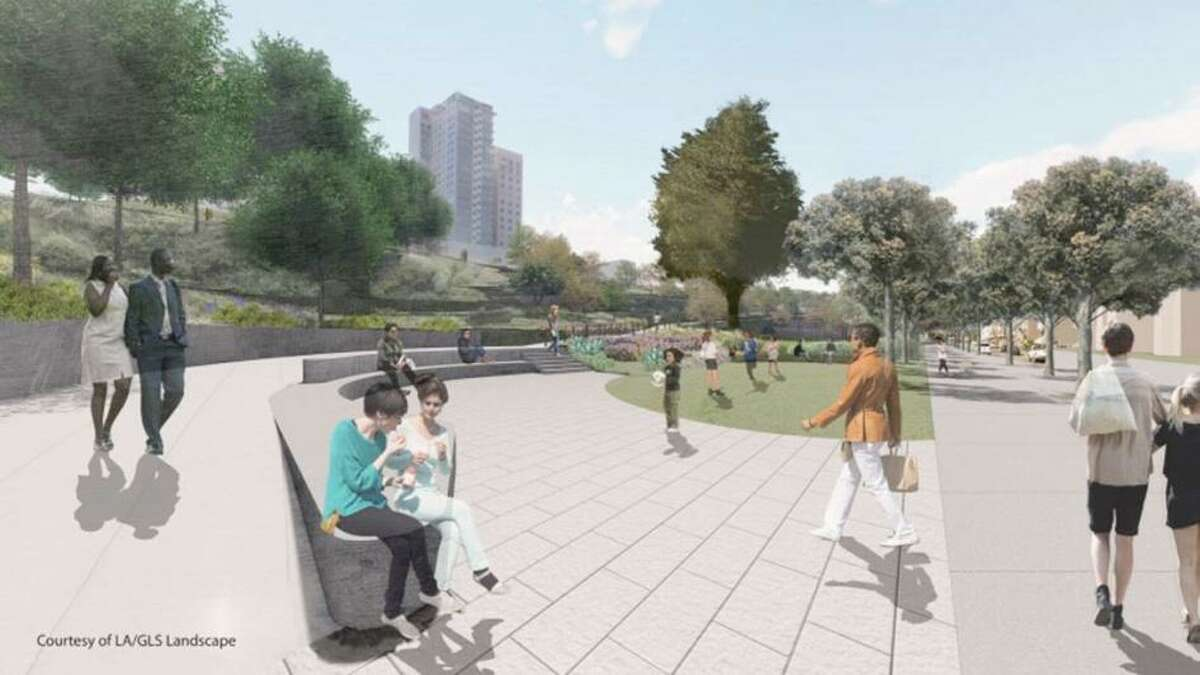A rendering of the new Francisco Park.
