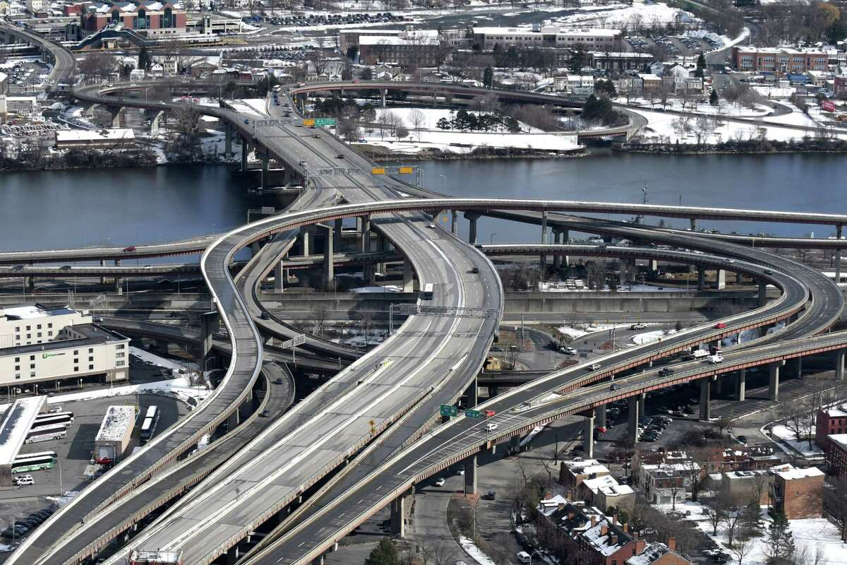 The South Mall Expressway is seen from Corning Tower on Thursday, March 15, 2018, in Albany, N.Y. (Will Waldron/Times Union)