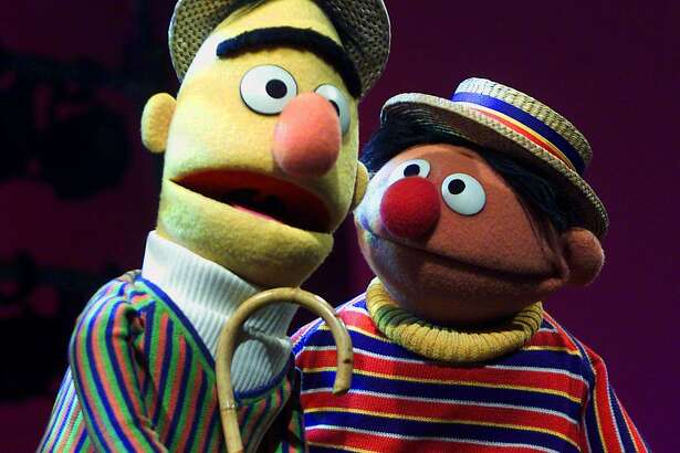 "In this Aug. 22, 2001, file photo, Muppets Bert, left, and Ernie, from the children's program ""Sesame Street,"" are shown in New York. Under a new partnership announced Thursday, Aug. 13, 2015, by Sesame Workshop and HBO, the premium cable channel will carry the next five seasons of ""Sesame Street"" on HBO and its related platforms. PBS, the long-time home of the children's program, will continue to air the show as well. (AP Photo/Beth A. Keiser, File)"