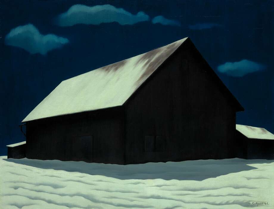"George Copeland Ault, ""January Full Moon"" (1941) Photo: Jamison Miller, Nelson-Atkins Museum Of Art, Kansas City"