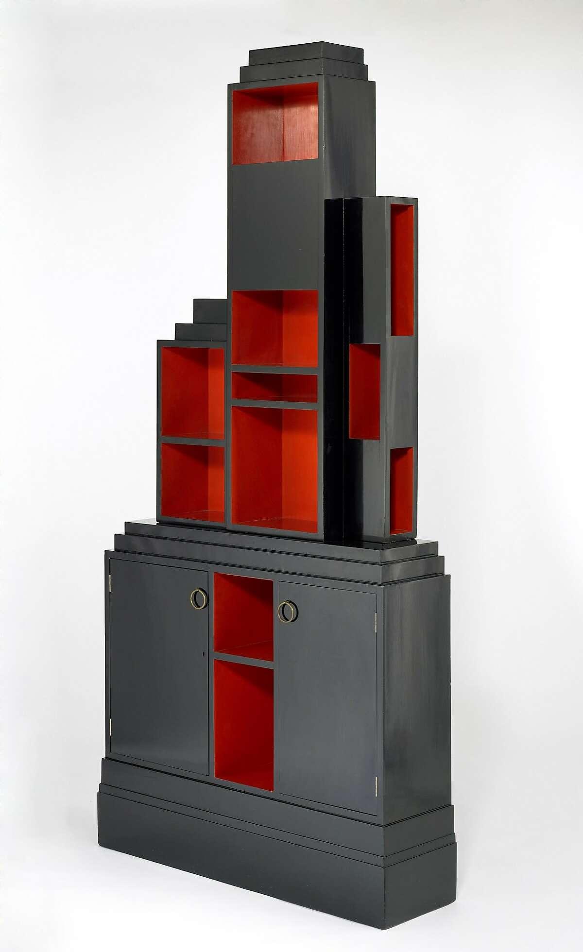 """Paul T. Frankl, """"Skyscraper"""" bookcase (ca. 1926)"""