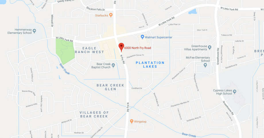 The Harris County Sheriff's Office tweeted that it's responding to a suspicious package in the 6000 block of N. Fry Road in west Harris County on March 15, 2018.