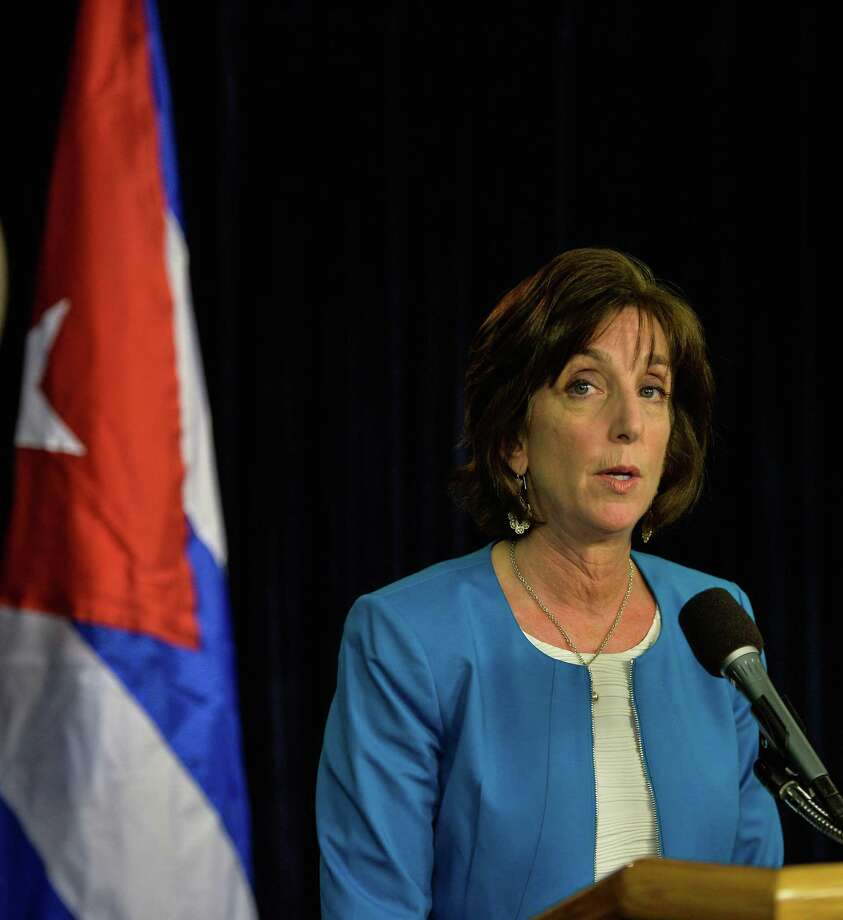 U.S. Assistant Secretary for Western Hemisphere Roberta Jacobson speaks during a press conference at the State Department in Washington, D.C., on May 22, 2015. Jacobson is quitting her position as U.S. ambassador to Mexico. Photo: Xinhua, FILE / TNS / Sipa USA