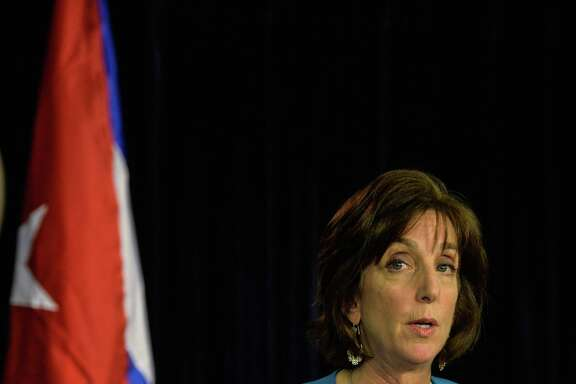 U.S. Assistant Secretary for Western Hemisphere Roberta Jacobson speaks during a press conference at the State Department in Washington, D.C., on May 22, 2015. Jacobson is quitting her position as U.S. ambassador to Mexico.
