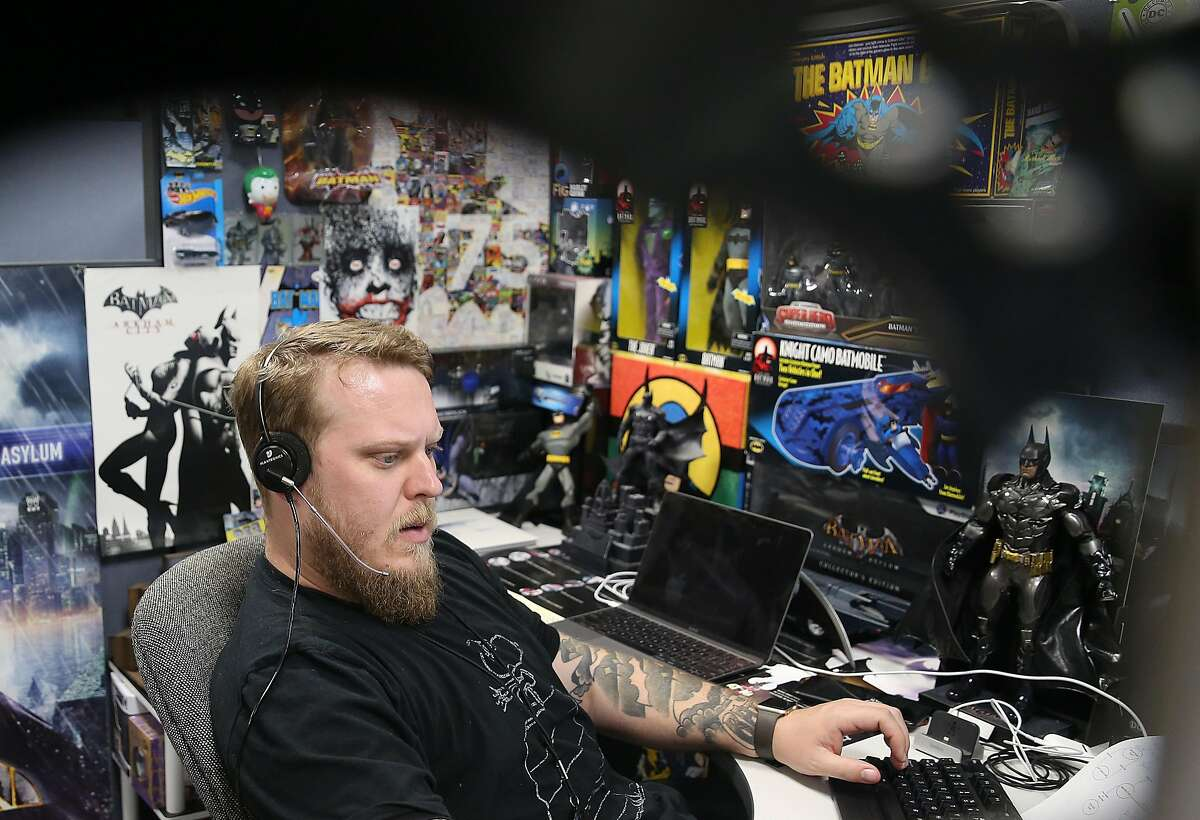 Technical support representative AJ Reilly takes a call at Sonic, a local internet service provider, on Monday, March 13, 2018, in Santa Rosa, Calif.