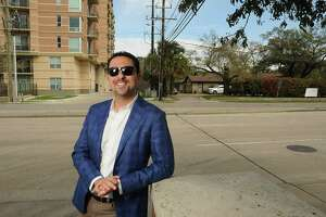 Sean Jamea, a co-principal of Oxberry Group in front of the property they will develop at the corner of Chimney Rock and San Felipe Friday March 02,2018. (Dave Rossman Photo)