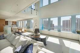 The two-story penthouse sits on the 24th floor of the Ritz-Carlton.