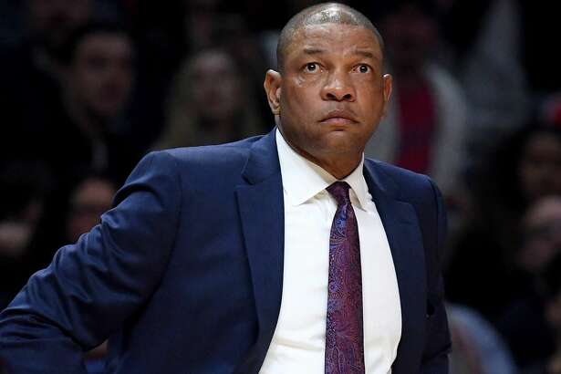 LOS ANGELES, CA - MARCH 09:  Doc Rivers of the LA Clippers watches play during a 116-102 win over the Cleveland Cavaliers at Staples Center on March 9, 2018 in Los Angeles, California.  (Photo by Harry How/Getty Images)