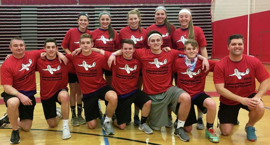 On March 9 the Guilderland Physical Education Department organized its 10th annual dodgeball tournament at Guilderland High School. All proceeds went to the Altamont Food Pantry. The amount donated was $1,960. The team Myles 2.0 was the Dodgeball Champion.