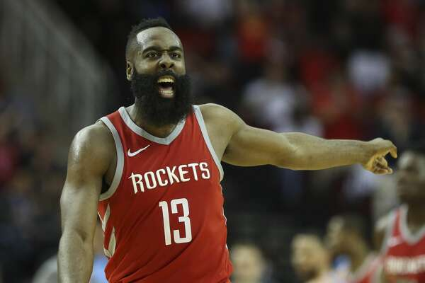 Houston Rockets guard James Harden (13) during the fourth quarter of the NBA game at Toyota Center on Thursday, March 15, 2018, in Houston. The Houston Rockets defeated the LA Clippers 101-96. ( Yi-Chin Lee / Houston Chronicle )