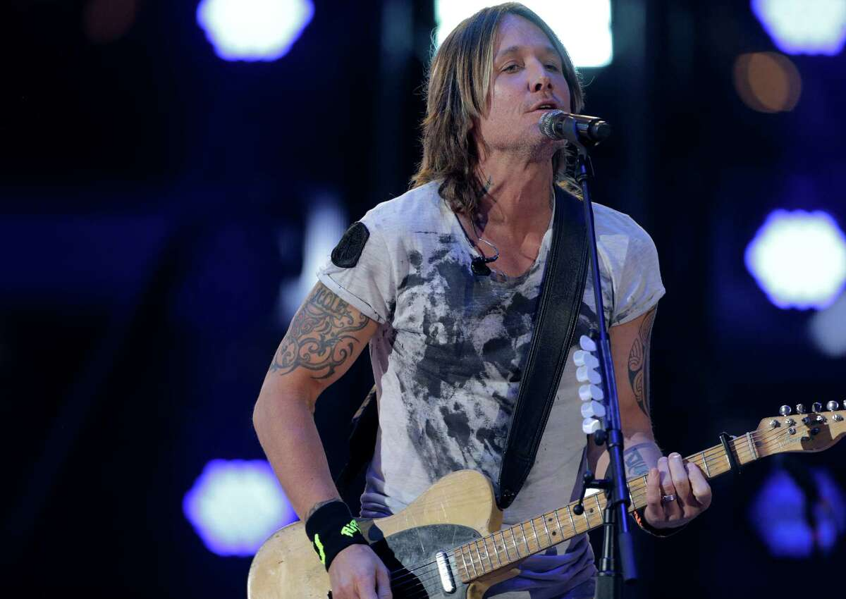 Keith Urban performs during the 2018 Rodeo Houston Semi-Finals at NRG Stadium on on Thursday, March 15, 2018, in Houston.