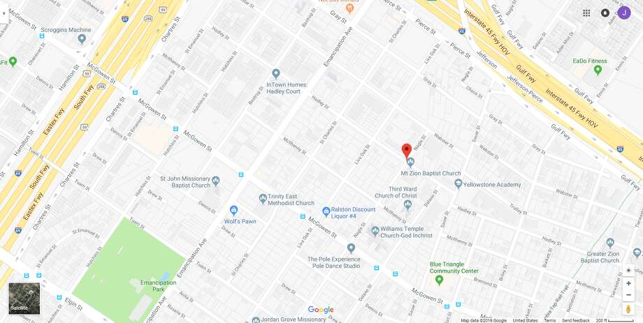 FILE - A screenshot of a Google Maps image of Hadley Street in Houston, Texas. Friday, Metro officials reported its train had collided with someone in the area. Photo: File/Google