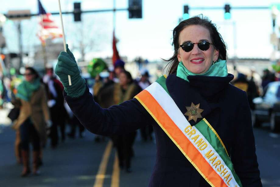 Deirdre Daly, a Fairfield resident and Connecticut's former United States attorney, served as the grand marshal of Norwalk's third annual St. Patricks Day Parade on March 10. Photo: Erik Trautmann / Hearst Connecticut Media / Norwalk Hour