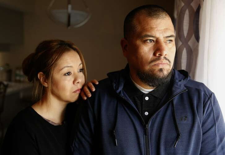 Lorena and Reyes Cuesta at their home in Tracy, Calif. on Thurs. March 15, 2018. Their Daughter 19-year-old Lizette Cuesta was stabbed and left for dead on a rural road in Livermore, Calif. on Feb. 12th, she died hours later.