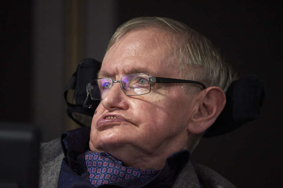 """""""Stephen Hawking,"""" Republican representative Briscoe Cain tweeted after the scientist's death, """"now knows the truth about how the universe was made."""" Photo: Niklas Hallen / AFP / Getty Images"""