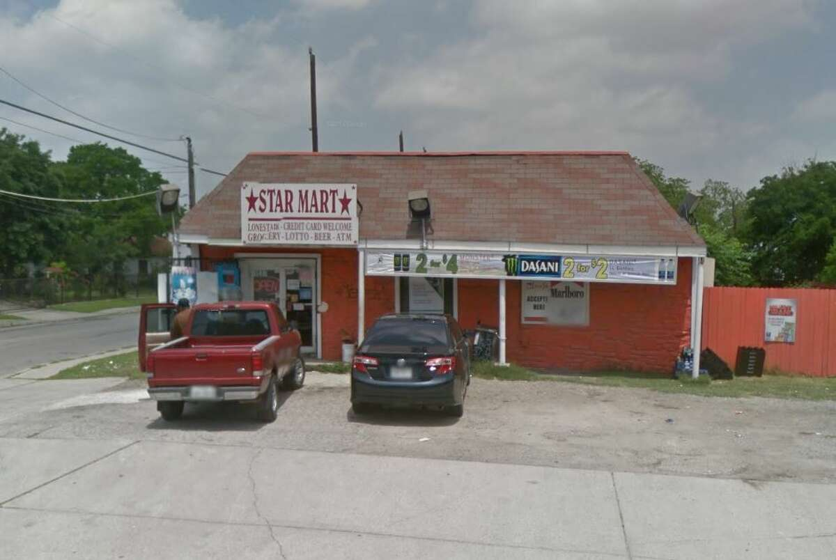 Starmart: 1537 Delgado St., San Antonio, TX 78207 Date: 03/13/2018 Score: 79 Highlights: Establishment did not have hot food for sale at time of inspection, but establishment is cooking and holding food items without proper certification; no Certified Food Manager present at time of inspection; bags of ice must be properly labeled; food-contact surfaces must be clean to sight/touch (ice machine); remove evidence of pests, rodents, insects from establishment; pickle tongs must be stored on clean, dry surface; single-service items must be protected from contamination; covered trash can needed for women's restroom; most recent inspection report must be posted for customer view; floor tiles, ceiling must be in good repair; equipment not in use must be removed from establishment