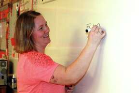Dawn Pleiness has taught fifth grade at Harbor Beach Elementary School for several years, and it seems to be her favorite grade. Each day, she will teach math, social studies, science and English language arts. (Rich Harp/For the Tribune)