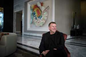 Landry's Inc. CEO Tilman Fertitta sits in the lobby of his new 250-room hotel The Oak Hotel. Wednesday, March 14, 2018, in Houston. ( Marie D. De Jesus / Houston Chronicle )