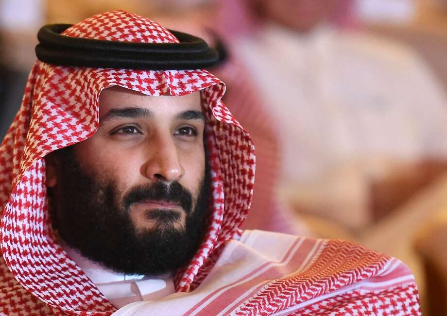 "Saudi Crown Prince Mohammed bin Salman attends the Future Investment Initiative (FII) conference in Riyadh, on October 24, 2017. The Crown Prince pledged a ""moderate, open"" Saudi Arabia, breaking with ultra-conservative clerics in favour of an image catering to foreign investors and Saudi youth.  ""We are returning to what we were before -- a country of moderate Islam that is open to all religions and to the world,"" he said at the economic forum in Riyadh.  Photo: Fayez Nureldine / AFP / Getty Images 2017"
