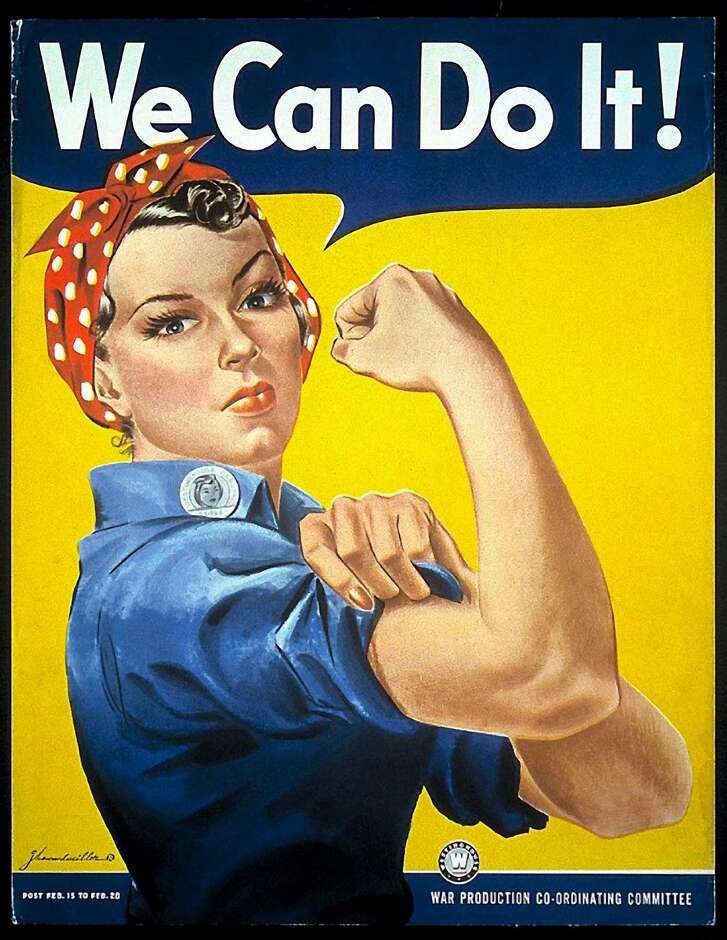 The original Rosie the Riveter poster created by J. Howard Miller for Westinghouse Electric & Manufacturing Co.