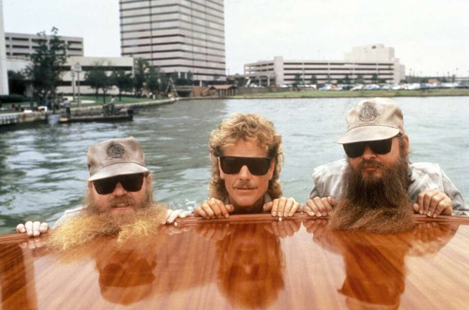 "PHOTOS: When ZZ Top found synths and videoDusty Hill, Frank Beard, and Billy Gibbons seen here just after the release of ""Eliminator"" in 1983. Beards make bad flotation devices.See more photos from the band during the ""Eliminator"" era... Photo: Ebet Roberts/Redferns"