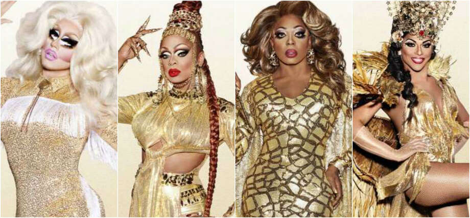 The RuPaul's Drag Race All Stars 3 top four: Trixie Mattel, Kennedy Davenport, Bebe Zahara Benet and Shangela. Photo: VH1