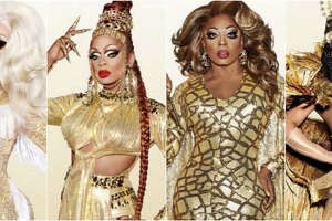 The RuPaul's Drag Race All Stars 3 top four: Trixie Mattel, Kennedy Davenport, Bebe Zahara Benet and Shangela.