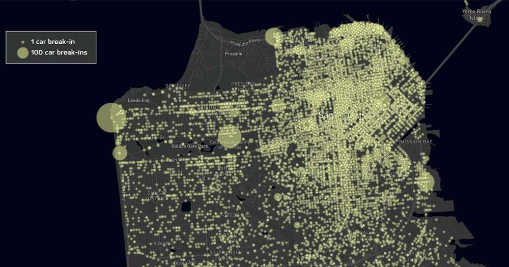 San Francisco's auto break-in hot spots - San Francisco Chronicle