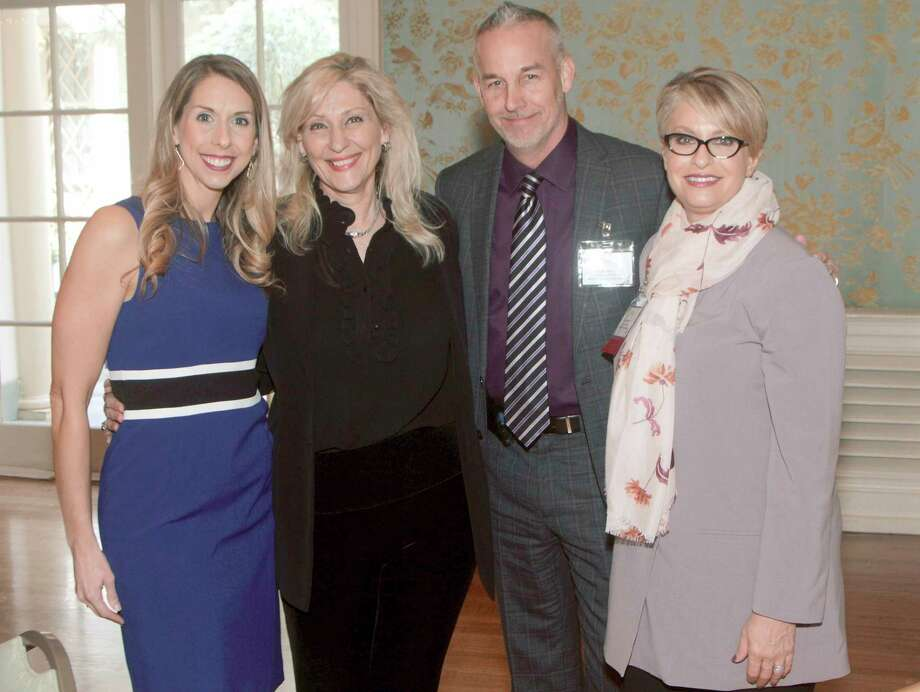 Attending the March 9 event were (l to r) Jessica Wheeler, Burnett Specialists; Judy Collins, Evergreen Contract Resources; Gary Wood, Lucas Group; and Beth Hammond, Carlton Staffing.