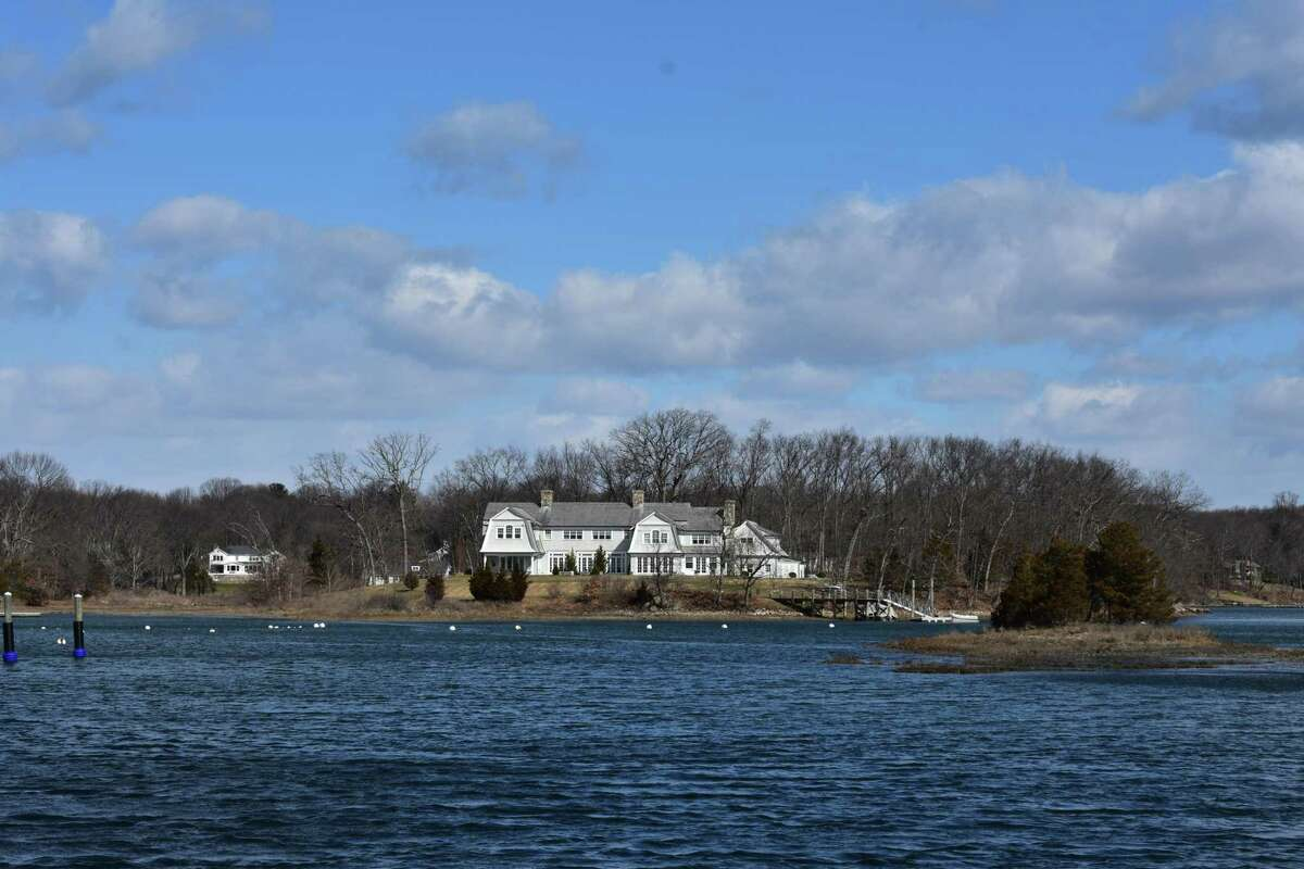 The house at 20 Juniper Road in Darien, Conn., which was listed for sale in March 2018 at $14.3 million, vaulting it into the 25 most expensive listings in Connecticut.