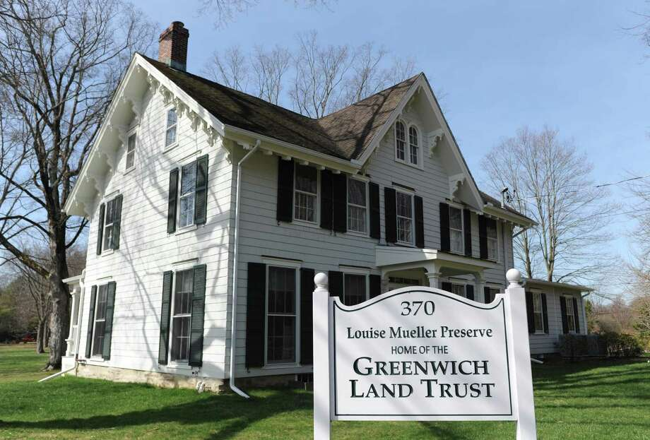 The renovated Greenwich Land Trust Mueller Preserve building in Greenwich, Conn. Tuesday, April 11, 2017. The Land Trust is being given a Merit Award from the Connecticut Preservation Trust for the preservation of its Mueller Preserve headquarters on Round Hill Road. The four-acre property was gifted to the Land Trust in 2012 and after raising more than $1,500,000 for restoration the renovations were completed in 2015. Photo: Tyler Sizemore / Hearst Connecticut Media / Greenwich Time