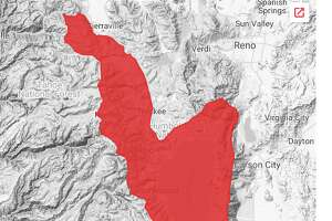 """Avalanche Warning for Greater Lake Tahoe Area, California, March 16, 2018: """"Affected Area...Central Sierra Nevada Mountains between Yuba Pass (Highway 49) on the north and Ebbetts Pass (Highway 4) on the south, including the Greater Lake Tahoe area. This warning applies only to backcountry areas outside of established ski area boundaries and highway corridors where avalanche mitigation programs exist."""""""