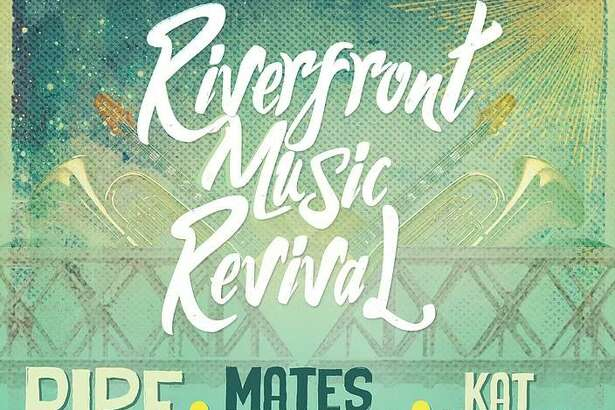 A poster promoting the Riverfront Music Festival, a new two-day music and arts festival to be held at Veteran's Memorial Park in Shelton, Conn. on June 9 and 10, 2018.