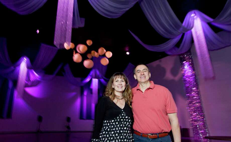 Monica and Hermilo Herrera, owners of Moonlight Venue, with their partners converted an old movie theatre into an event space on 2017 North Frazier St. Friday, March 16, 2018, in Conroe. Photo: Jason Fochtman, Staff Photographer / © 2018 Houston Chronicle