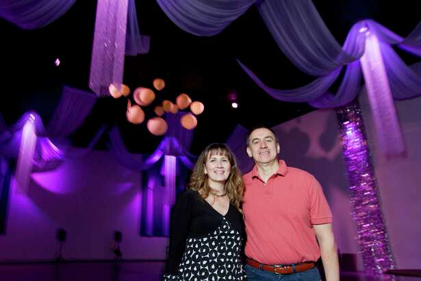Monica and Hermilo Herrera, owners of Moonlight Venue, with their partners converted an old movie theatre into an event space on 2017 North Frazier St. Friday, March 16, 2018, in Conroe.