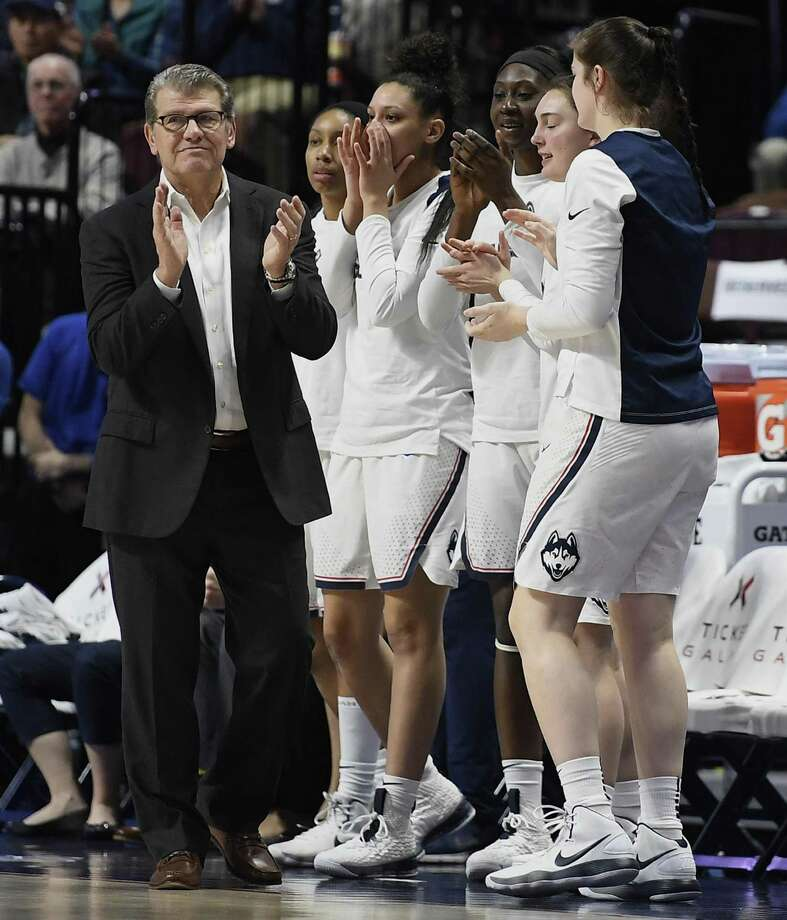 Coach Geno Auriemma and the UConn women's basketball team are seeking a first-round win in the NCAA tournament for a 25th straight season. Photo: Associated Press File Photo / AP2018