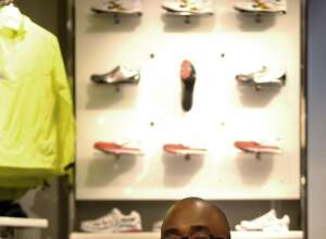 EDS.: RETRANSMISSION TO RECAST CAPTION -- FILE -- Trevor Edwards, a vice president of brand management for Nike, at the Niketown store in Manhattan, Oct. 2, 2007. Edwards, who had been seen as a potential successor to Nike�s chief executive, is stepping down,  the shoemaker said on March 15, 2018. (Rob Bennett/The New York Times)